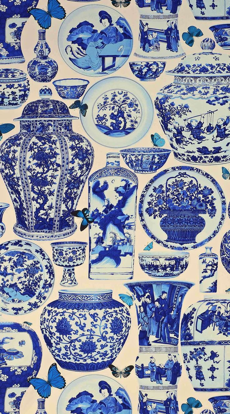 "Just absolutely gorgeous 'Jardin Bleu' fabric in Indigo from Manual Canovas ""design library"""