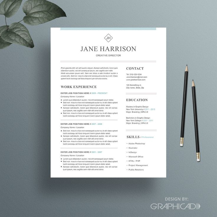 Professional Resume Template u0026 Cover Letter for