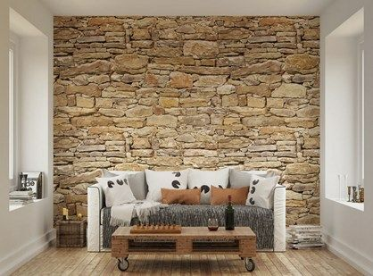 Fototapet+-+Rustic+Stone+Wall