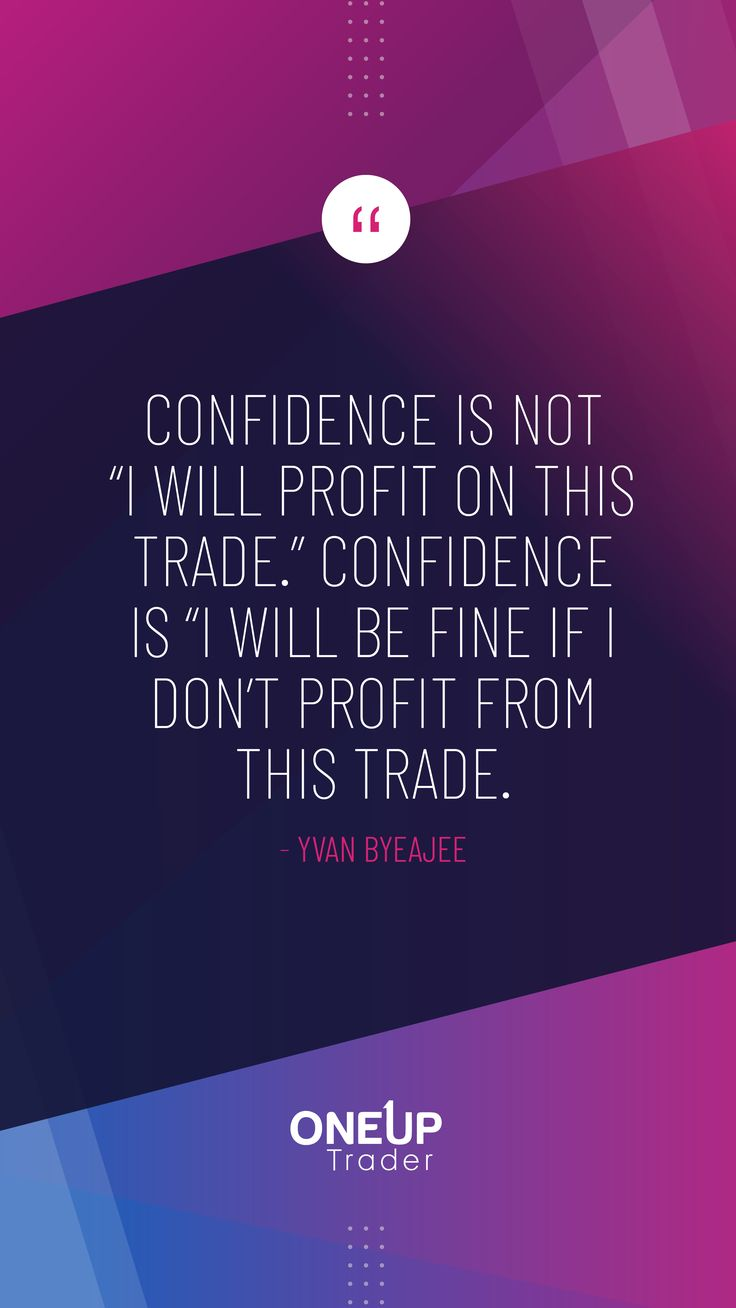 "Confidence is not ""I will profit on this trade."" Confidence is ""I will be fine if I don't profit from this trade."" -Yvan Byeajee . Never stop learning. 👍💪 📈 #traderpsychology #lifeofatrader #learntotrade #investorlife #investnow #tradinglife #tradersmindset #tradingpsychology #technicalanalysis #stocktrading #stocktrader #swingtrading #swingtrader #OneUpTrader #fundedtrading #futurestrading #futures #fundedprogram #futuresmarket #trade #performance #fullyfunded #futurestrader"