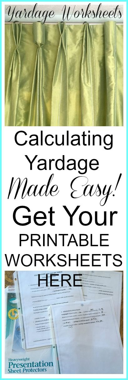 Calculating Yardage Made Easy! @ CurtainQueenCreates.com