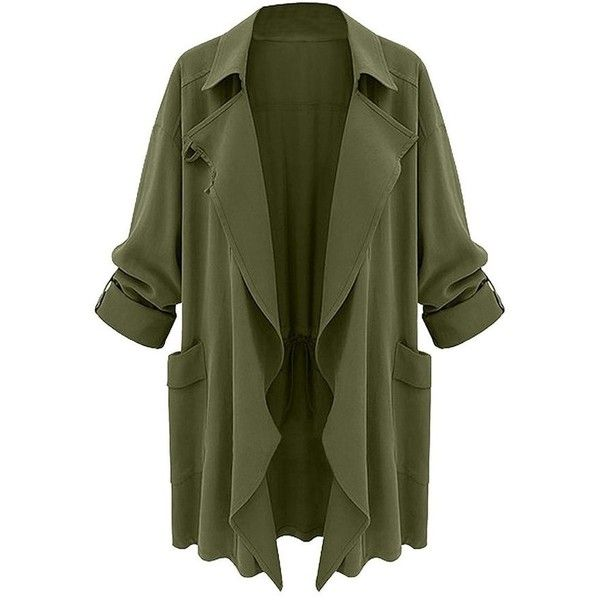 Moss Green Draped Cardigan Lookbook Store (£28) ❤ liked on Polyvore featuring tops, cardigans, drape top, green cardigan, draped cardigan, cardigan top and drapey tops