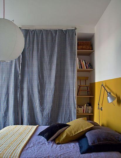 Ambiance vichy dans la chambre à coucher - Rendez-vous déco chez Mr & Mrs Clynk - CôtéMaison.fr#diaporama