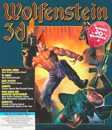 Wolfenstein 3D celebrates 20 years of machine guns and flag-obscured passages with free web version