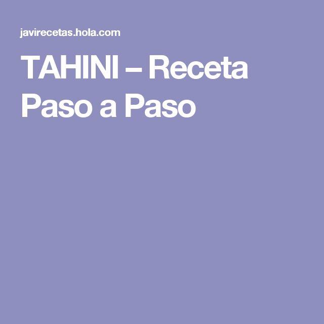 TAHINI – Receta Paso a Paso