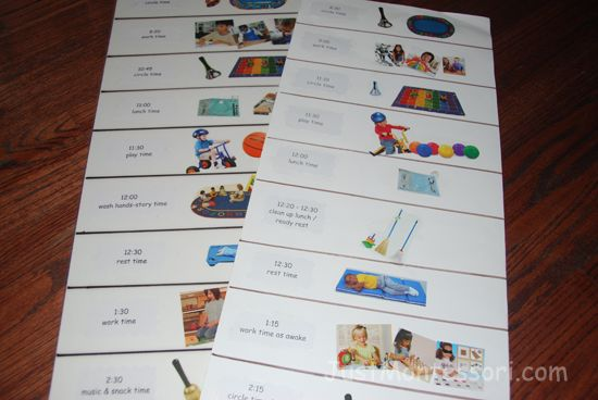 Daily Schedule - Cut and paste pictures to help children have a ...