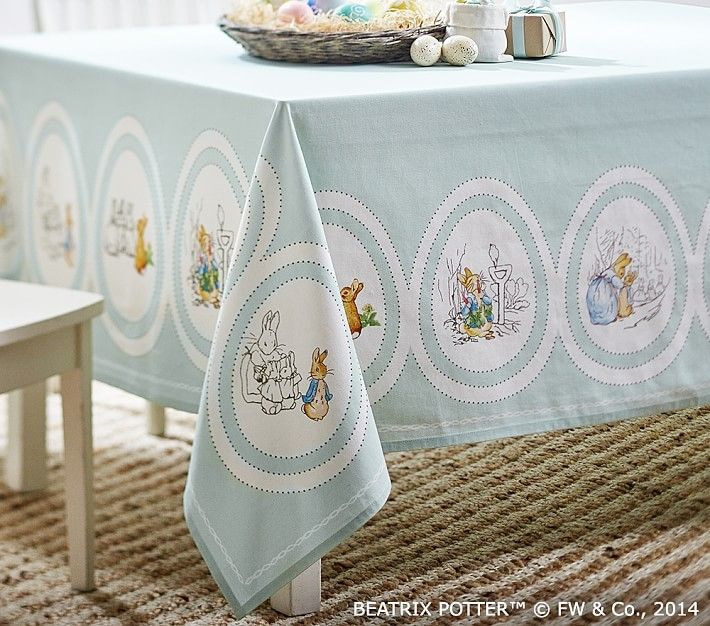 Peter Rabbit Easter Tablecloth Easter Baby Shower Peter