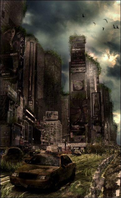 LP- Post apocalyptic N-Y scene by Vragor.deviantart.com on @deviantART