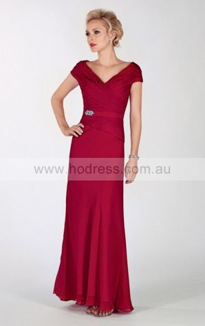 Zipper Floor-length Natural Sheath Chiffon Formal Dresses aiga307045
