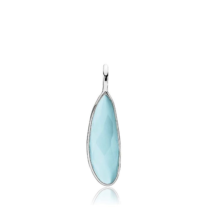 PRECIOUS pendant with a beautiful blue chalcedony. The pendant is made of shiny white sterling silver – Danish design jewelry by Izabel Camille. Price: EUR 37 No. A5212sws-skyblue CL www.izabelcamille.com