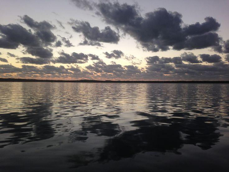Sunrise over Moreton Island #moretonbay #moretonisland