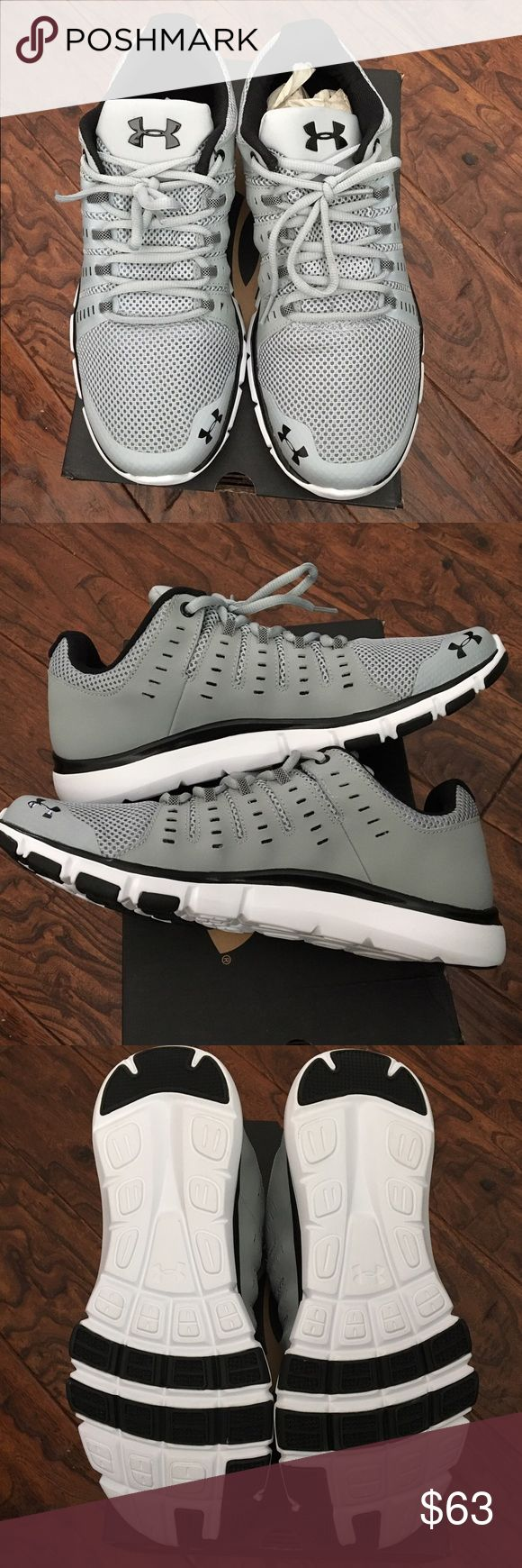 Under Armour men's tennis shoes Brand new in box. Men's tennis shoes. Gray and black Under Armour Shoes Sneakers