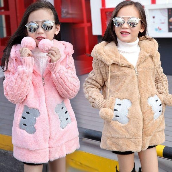 Fur Jacket Outerwear Baby Sleeve Warm Thick Girls Kids Newborn Winter Coat Faux