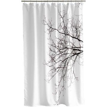 Duschdraperi - natur, Träd