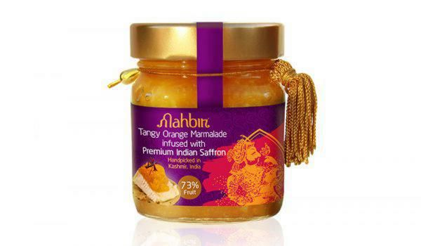 Mahbir Tangy Orange Marmalade infused with Premium Indian Saffron by To filema tis Lelas