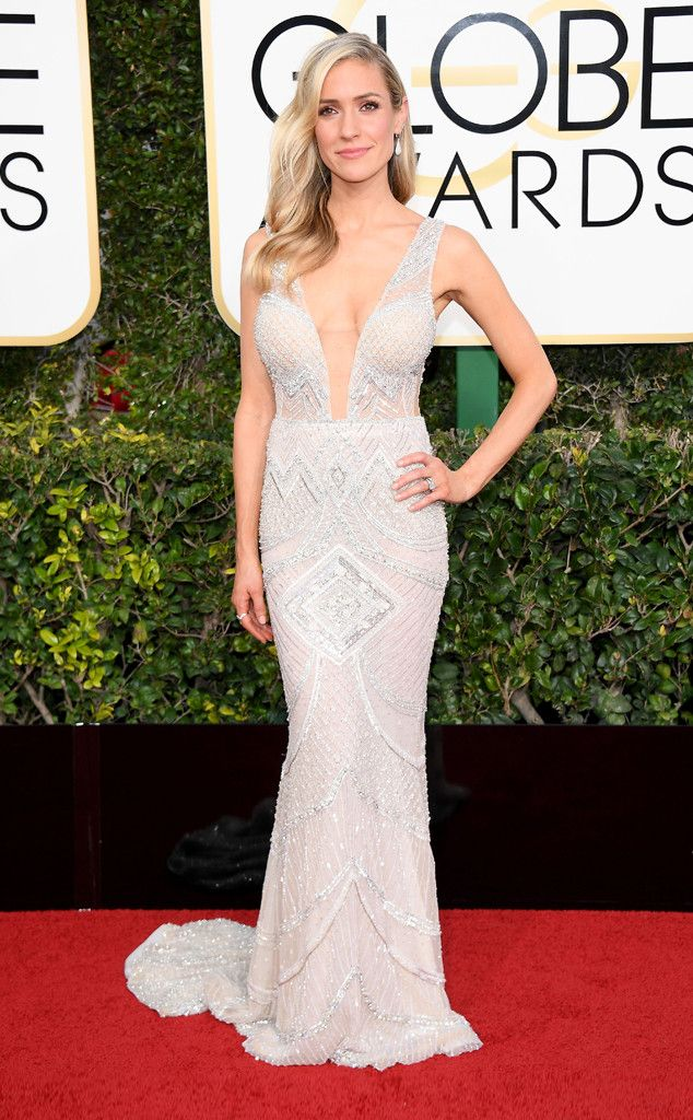 Plunging Neckline from 2017 Golden Globes' Sexiest Trends Kristin Cavallari stunned in a bodycon dress.
