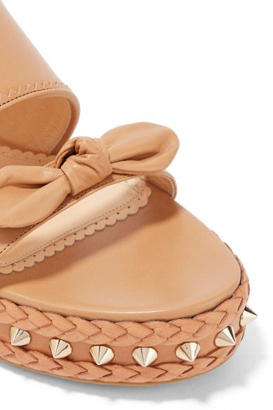 Charlotte Olympia - Hackney Studded Leather Espadrille Sandals