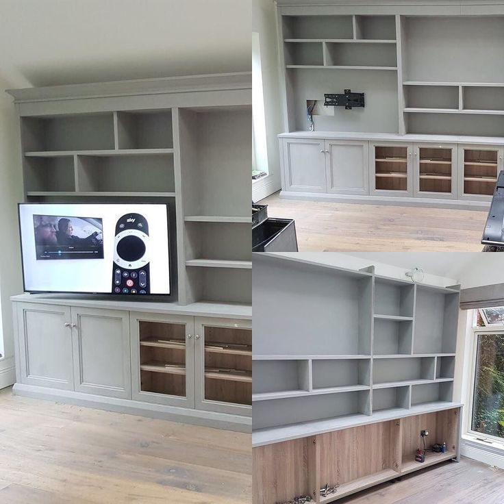 A new bespoke entertainment unit fitting started today. Stay tuned for the finished piece #recent #newhampshireinteriors #shutterco #bespokecabinetry #dublin18 #carrickmines #farrowandball #entertainmentunit #openplanliving