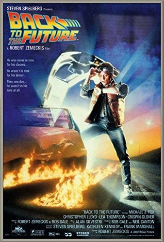 """Back To The Future - Movie Poster / Print (Regular Style / Delorean) (Size: 24"""" x 36"""") (Clear Poster Hanger)"""