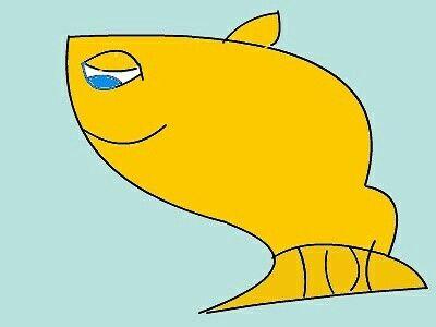 een #vis getekend