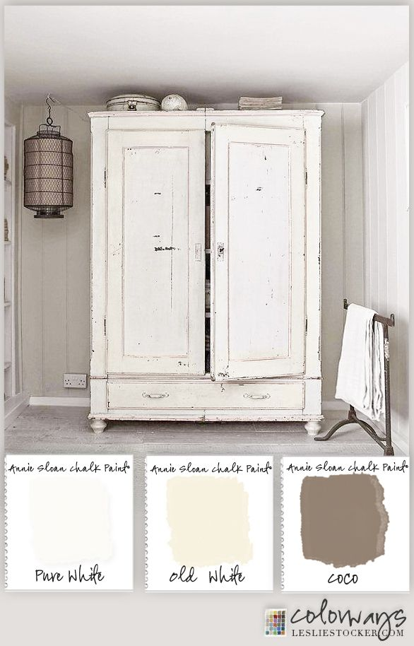 Photo: Warm White Armoire on Colorways at www.lesliestocker.com