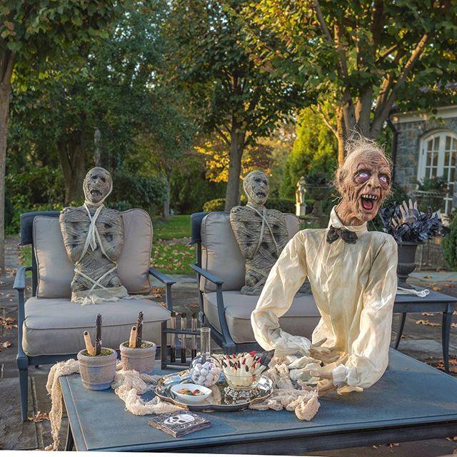 halloween cocktail hour restoration hardware chairs and table perch - Restoration Hardware Halloween