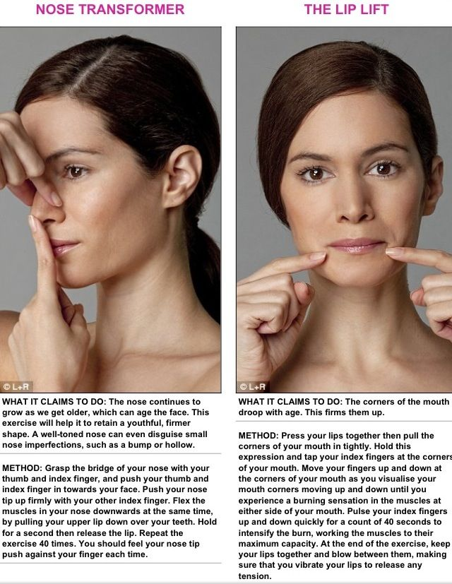 how to make round face slim by exercise