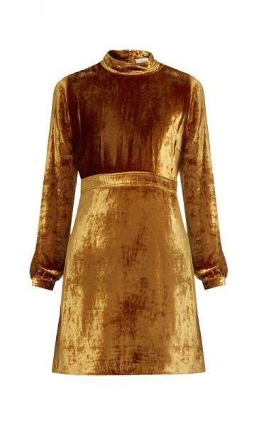 Gemma High-Neck Velvet Dress by A.L.C.