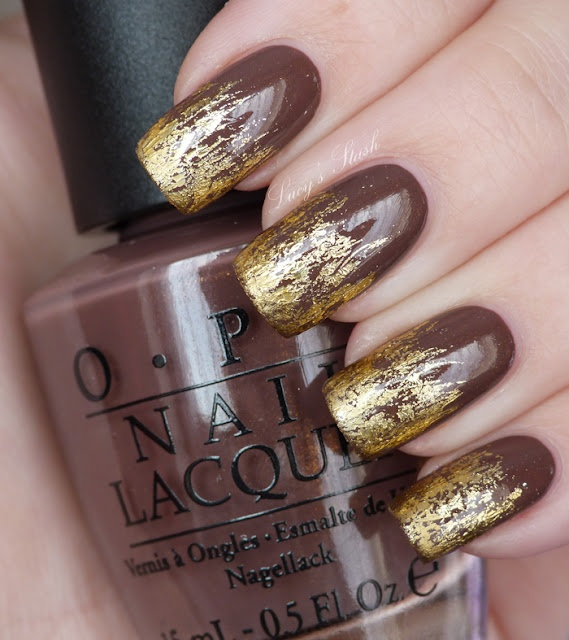 Lucy's Stash: Gold flames manicure - with photo and video tutorial!