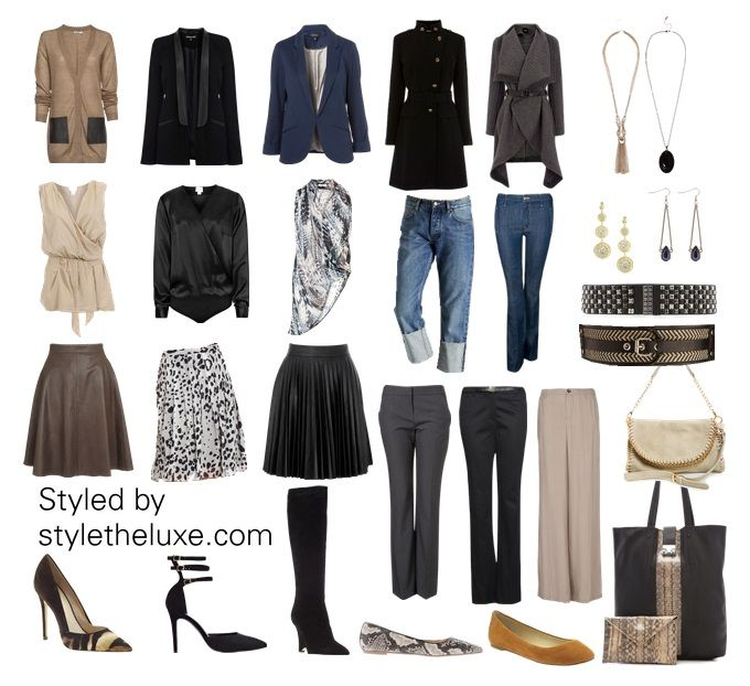 This capsule wardrobe was created specifically with the apple (triangle downward) body shape in mind. We styled it for a business casual lifestyle. You can mix and match these pieces to create grea...