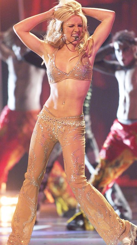 The Most Memorable Fashion Moments From the VMAs - Britney Spears, 2000 from #InStyle