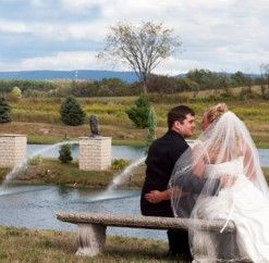 #justmarried #anthonyslakeside #fountains #lake