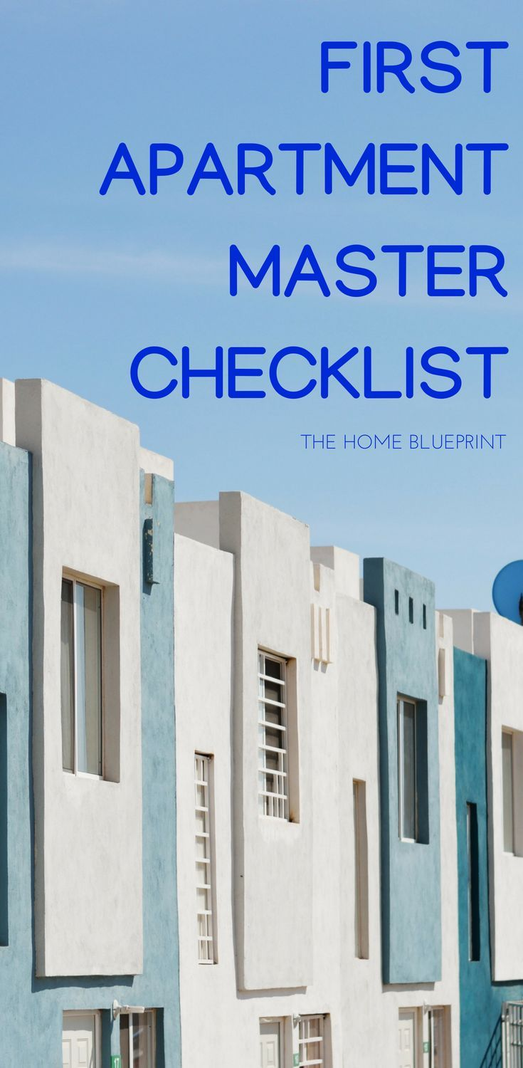 First Apartment Checklist The Home Blueprint First Apartment