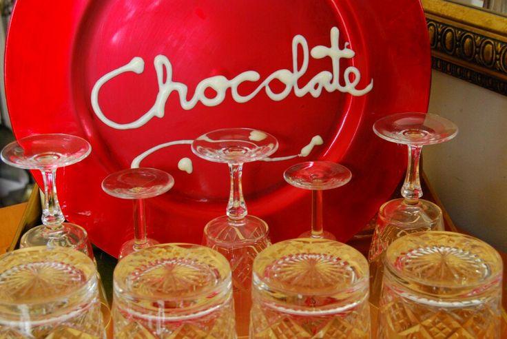 Chocolate written with chocolate