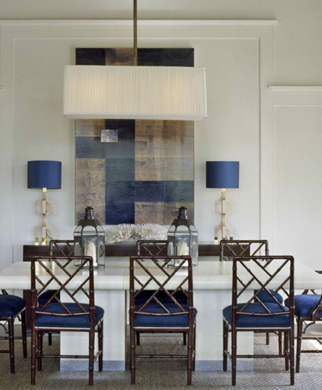 Great navy dining room... #interiordesign #inspiration #diningroom #color #navy #homedesign