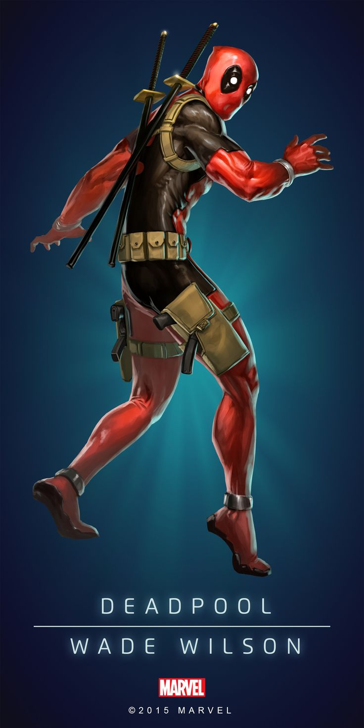 """#Deadpool #Fan #Art. (DEADPOOL - WADE WILSON IN: MARVEL'S PUZZLE QUEST!) BY: AMADEUS CHO! (THE * 5 * STÅR * ÅWARD * OF: * AW YEAH, IT'S MAJOR ÅWESOMENESS!!!™) [THANK U 4 PINNING!!!<·><]<©>ÅÅÅ+(OB4E)(IT'S THE MOST ADDICTING GAME ON THE PLANET, YOU HAVE BEEN WARNED!!!)(YOU WANT TO FIND THE REST OF THE CHARACTERS, SIMPLY TAP THE """"URL"""" HERE:  https://www.pinterest.com/ezseek/puzzle-quest-art/ (THANK YOU FOR DOING ALL YOUR PINNING AT: HERO WORLD!)"""