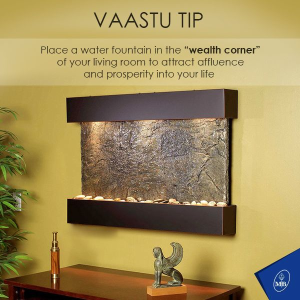 VaastuTip Place A Waterfountain In The Wealth Corner Of Your Living Room To