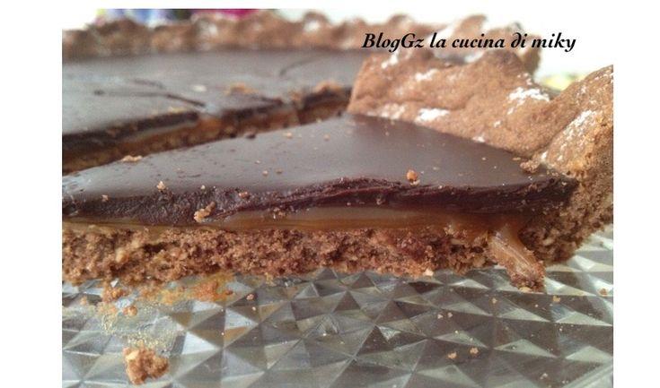 Crostata al,cioccolato e caramello salato senza glutineBlogGz la cucina di miky