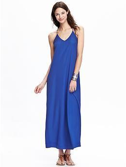 Womens Matte-Crepe Maxi Dresses