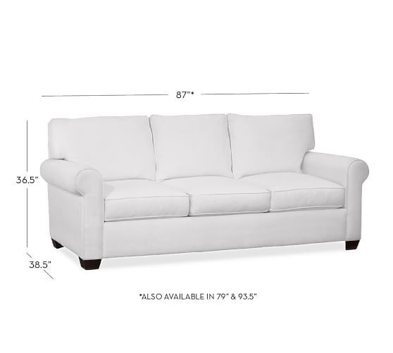 Buchanan Roll Arm Upholstered Sofa, Polyester Wrapped Cushions, Performance Everydayvelvet™ Buckwheat