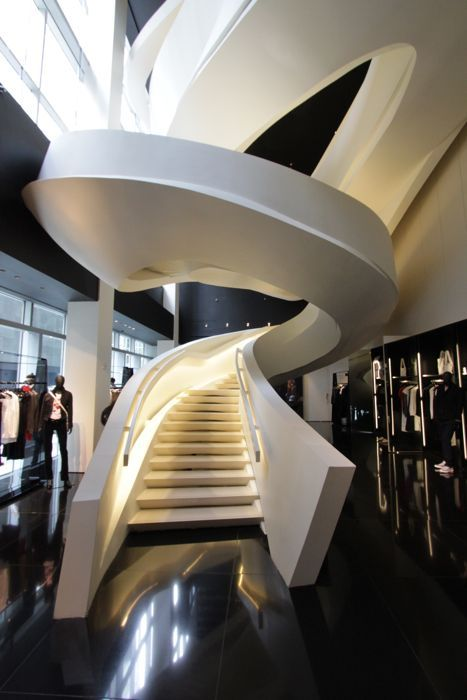 Armani Fifth Avenue - Massimiliano Fuksas #design #staircase #architecture
