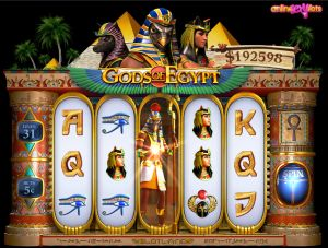 Gods of Egypt Video Slot Play At Slotland Casino With $38 Free