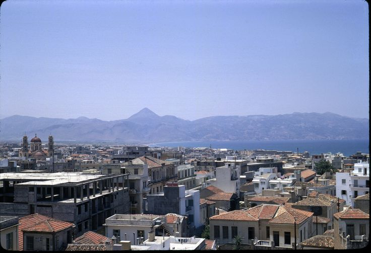 View of Iraklion from roof of Astoria hotel, looking west - June 1967