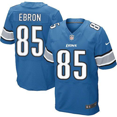 nike elite eric ebron light blue mens jersey detroit lions 85 nfl