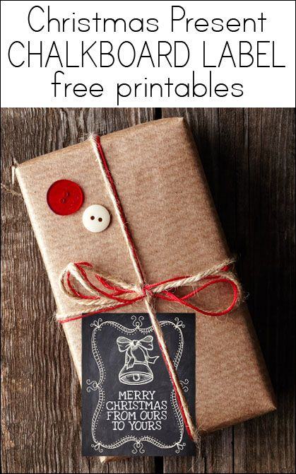 Christmas Chalkboard Labels {free printable