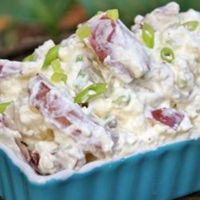 Country Cottage Potato Salad: Recipes Food, Country Cottages, Cottages Potatoes, Cooking Country, Cottage Cheese, Cottages Cheese, Potatoes Salad Recipes, Green Onions, Potato Salad Recipes
