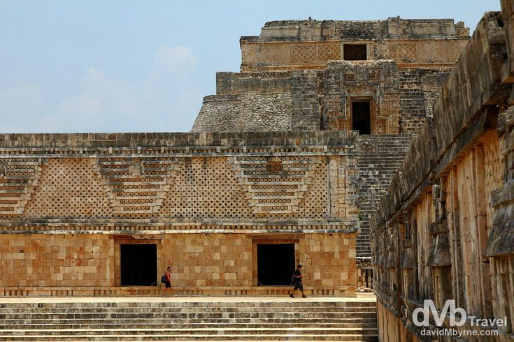 Uxmal, Yucatan, Mexico | dMb Travel - Travel with davidMbyrne.com | Uxmal is one of the best preserved Mayan ruin sites in the Yucatan & its architecture – characterized by low horizontal palaces set around courtyards, decorated with rich sculptural elements and details – is some of the most dramatic. Yucatán Peninsula, Mexico.