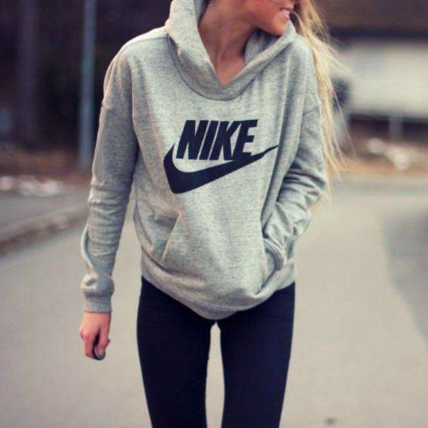 """NIKE"" Women Fashion Hooded Top Pullover Sweater Sweatshirt"