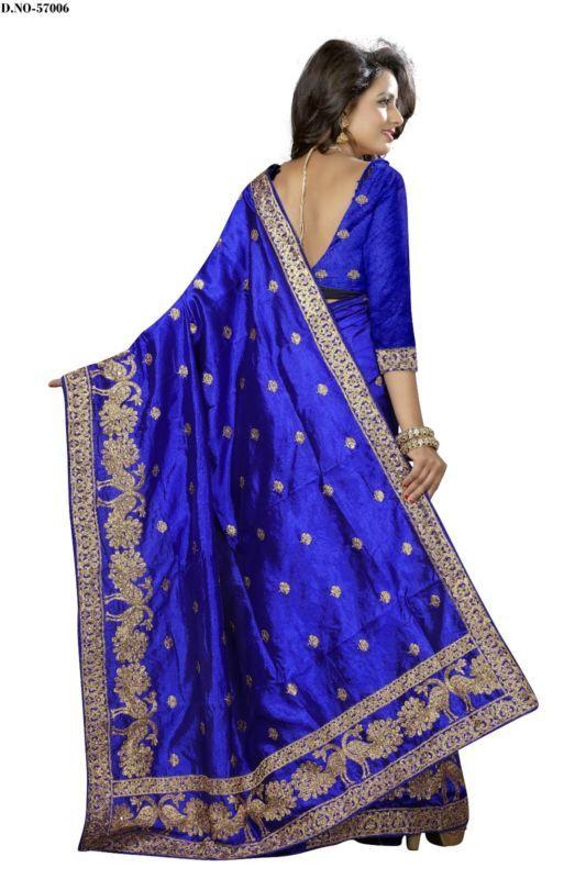 Indian Pakistani Ethnic Designer Art Silk Saree Blouse Partywear Bollywood Sari