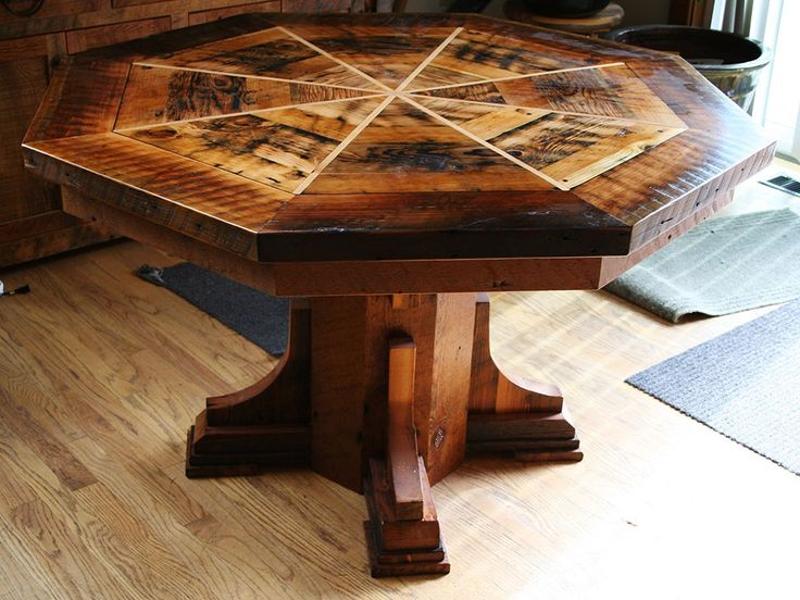 Country Roads Reclaimed Barnwood Dining Table